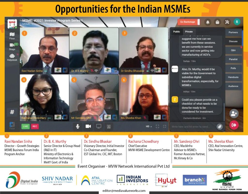 MVW-MSME Development Centre gets inaugurated to help MSMEs thrive in post-pandemic era